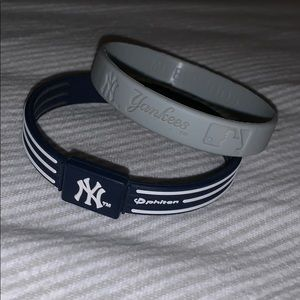 BUNDLE of two New York Yankees wristbands